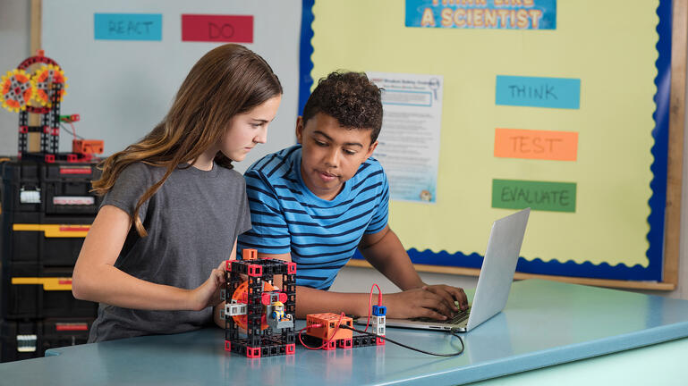 Middle school students learn engineering with Kid Spark STEM Labs